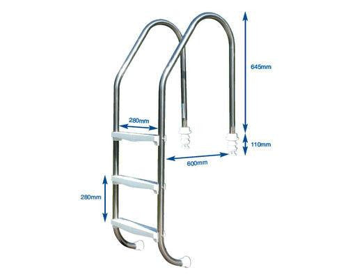 Plastica Standard Swimming Pool Ladder - H2oFun.co.uk