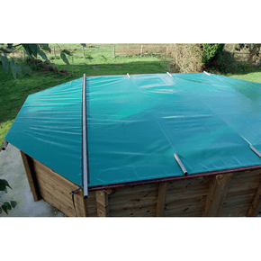 poolsaver wooden pool safety cover 4m Knightsbridge Plastica