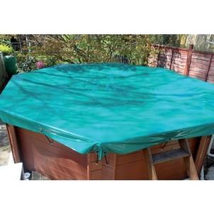 Deluxe Tarpaulin Wooden Pool Debris Covers - H2oFun.co.uk