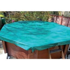 deluxe tarpaulin debris cover for above ground pools