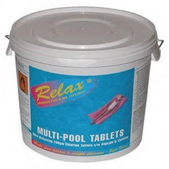 Relax Multi Pool Chlorine Tablets - H2oFun.co.uk