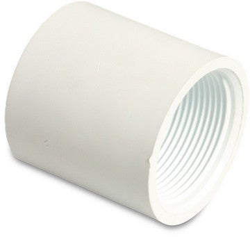 Swimming Pool Female Threaded Socket 1.5 Inch White PVC - H2oFun.co.uk