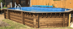 6m x 3m Sunsoka Wooden Pool - Stretched Octagonal - H2oFun.co.uk