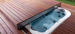 Walu Deck - Retractable Mobile Swim Spa & Hot Tub Safety Solid Deck - H2oFun.co.uk