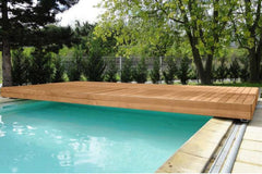 Walu Deck - Retractable Mobile Swimming Pool Safety Solid Deck - H2oFun.co.uk