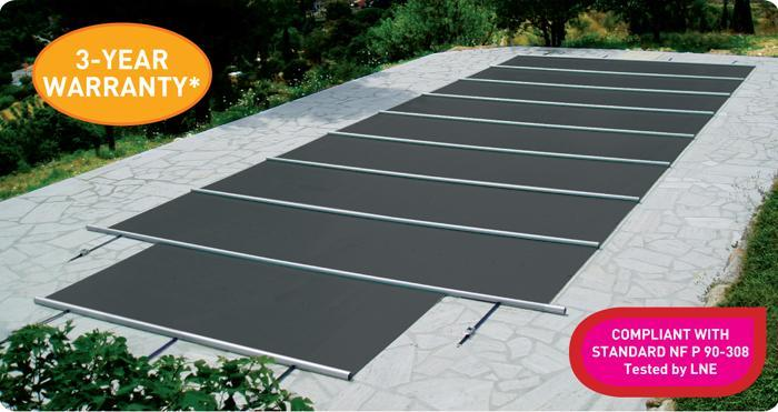 Walu Evolution Manual Overflow & Freeform Swimming Pool Safety Cover - H2oFun.co.uk