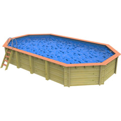 Westminster 4.611 x 8.201m Plastica Wooden Pool
