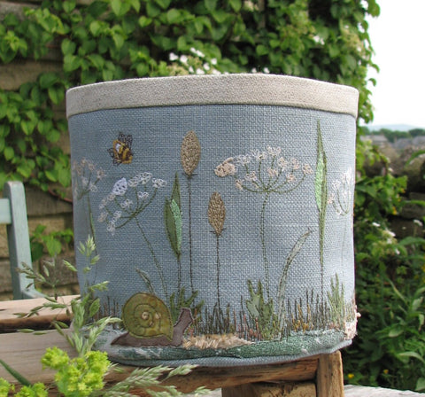 Fabric bowl - Meadow Grasses