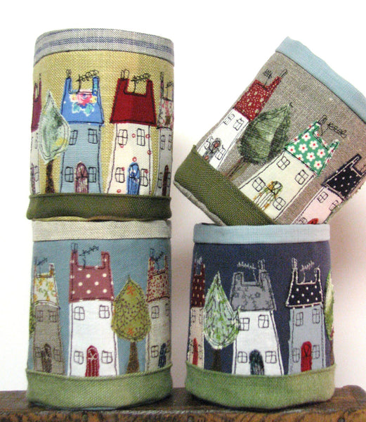 Fabric pot - House design