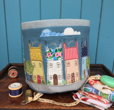Fabric Bowl - Happy Houses