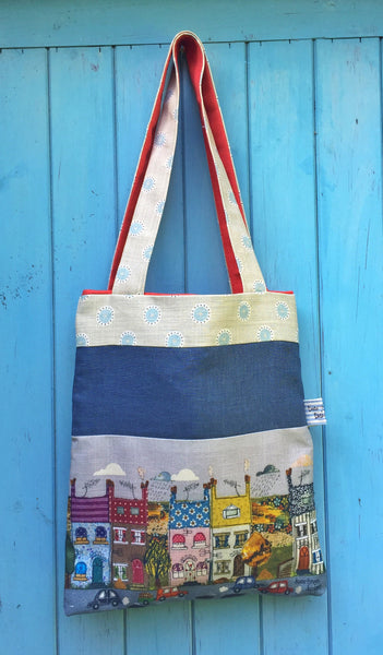 Tote Bag - Happy Houses Street Scene