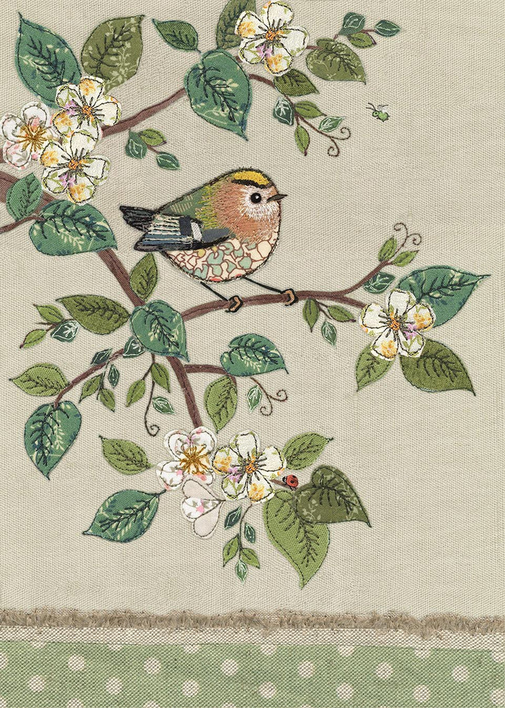 Greeting card- Goldcrest