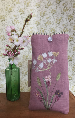 Glasses case - Wild Flowers - Cow Parsley