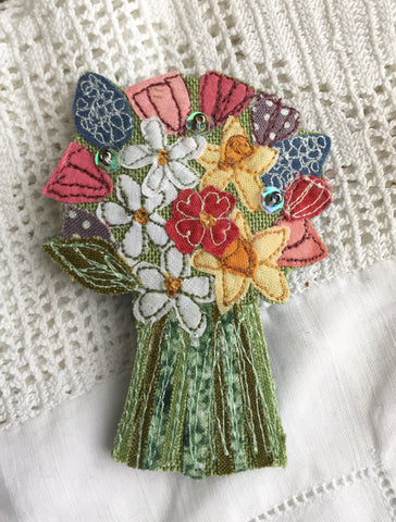 Bouquet Brooch - Spring Flowers
