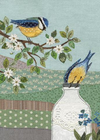 Greeting card - Blue Tits