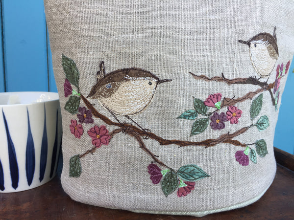 Cafetiere Cosy - Wren on blossom
