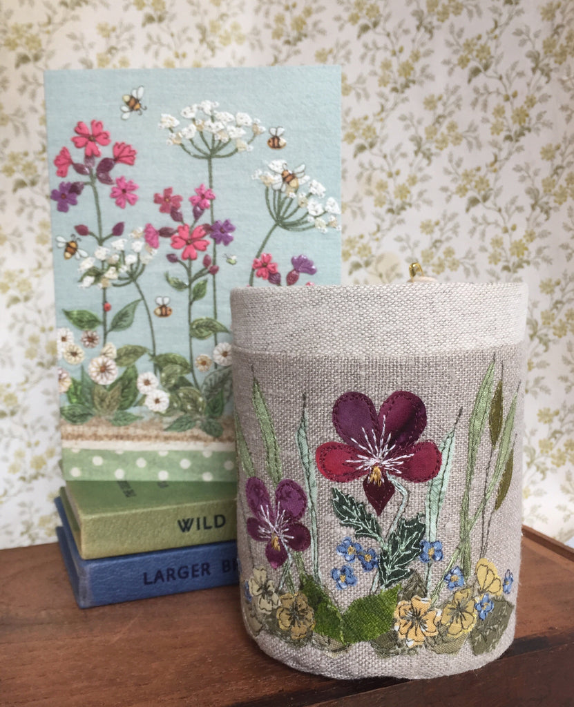 Fabric pot - Botanical Spring flowers