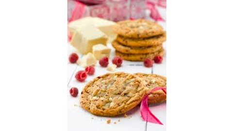 Cookies - White Chocolate with Raspberries (422-C)