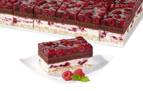 Raspberry cranberry crisp cream-slice