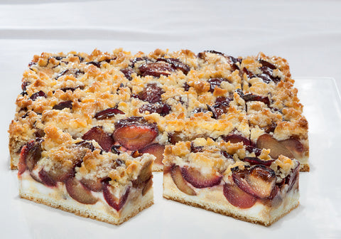 Plum butter crumble slice (9239P)