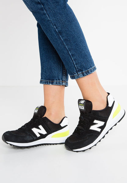 New Balance WL574 - Baskets basses - black/white