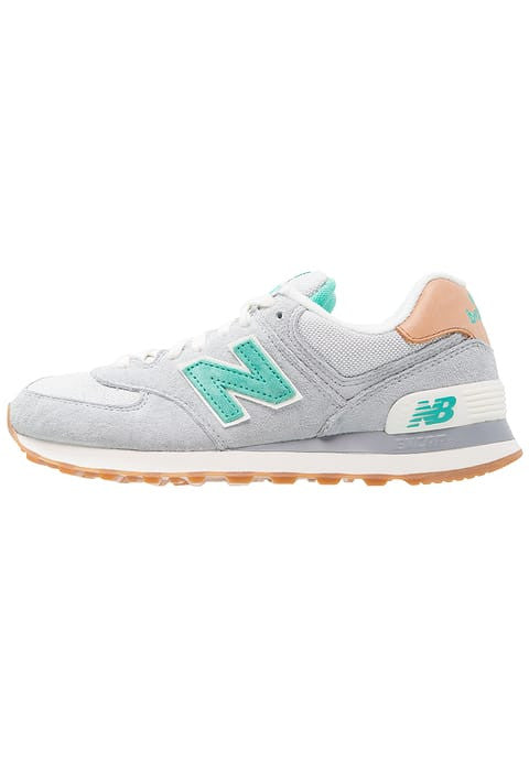 New Balance WL574 - Baskets basses - light grey/limeade/black