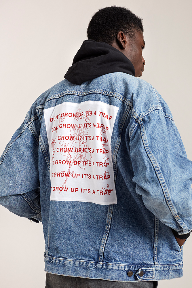 Don't Grow Up Denim Jacket