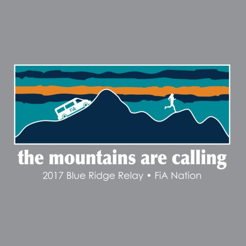 FiA 2017 Blue Ridge Relay Shirt Pre-Order
