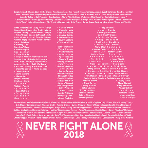 FiA Ribbon - Never Alone Shirts 2018
