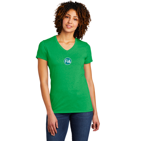 FiA Allmade Women's Tri-Blend V-Neck Tee - Made to Order