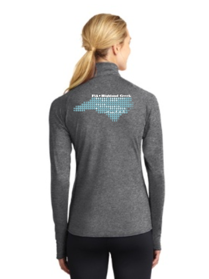 FiA Highland Creek Sport-Tek Ladies Sport-Wick Stretch 1/2-Zip Pullover Pre-Order