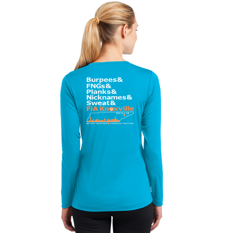 FiA Knoxville Word: Sport-Tek Ladies Long Sleeve Competitor V-Neck Tee Pre-Order