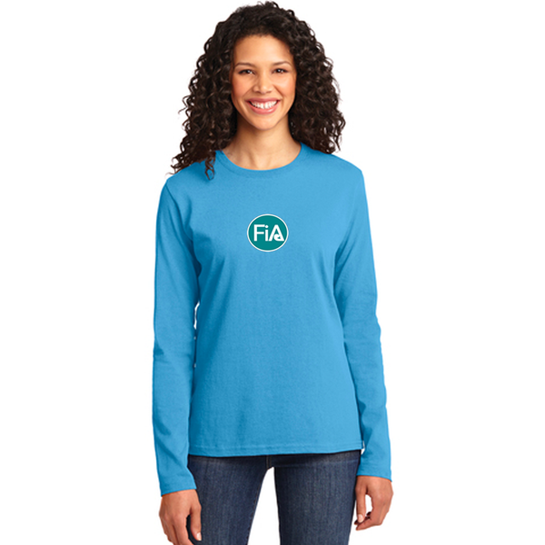 FiA Summerville AO Shirt - Port & Company Ladies Long Sleeve Core Cotton Tee Pre-Order