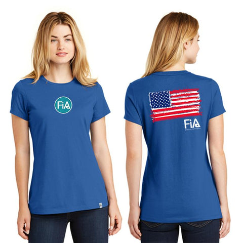 FiA Patriotic New Era Ladies Heritage Blend Crew Tee Pre-Order