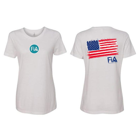 FiA Patriotic Next Level Women's Ideal Tee Pre-Order