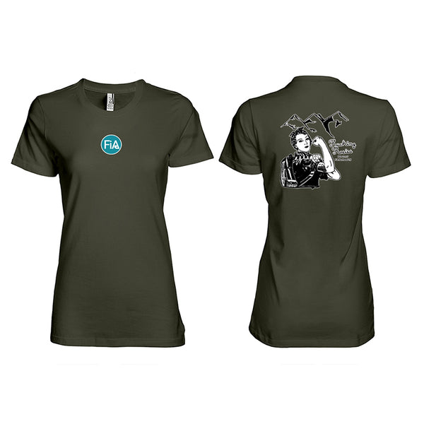 FiA Tennessee Rucking Rosies Ei-Lo Ladies Premium Cotton T-Shirt Pre-Order