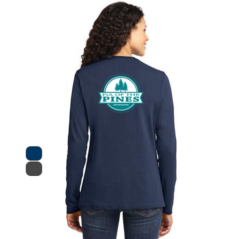 FiA of the Pines Port & Company Ladies Long Sleeve Cotton Tee Pre-Order