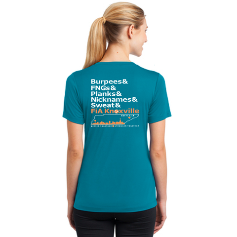 FiA Knoxville Word: Sport-Tek Ladies PosiCharge Competitor V-Neck Tee Pre-Order