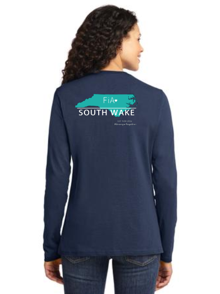 FiA South Wake Port & Company Ladies Long Sleeve Cotton Tee Pre-Order