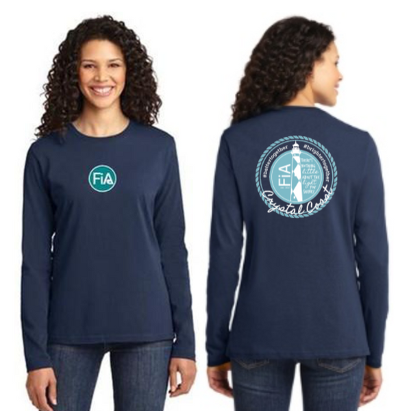 FiA Crystal Coast Port & Company Ladies Long Sleeve Cotton Tee Pre-Order