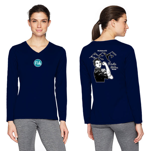 FiA - TN: Johnson City Augusta Ladies Long Sleeve Wicking Shirt Pre-Order