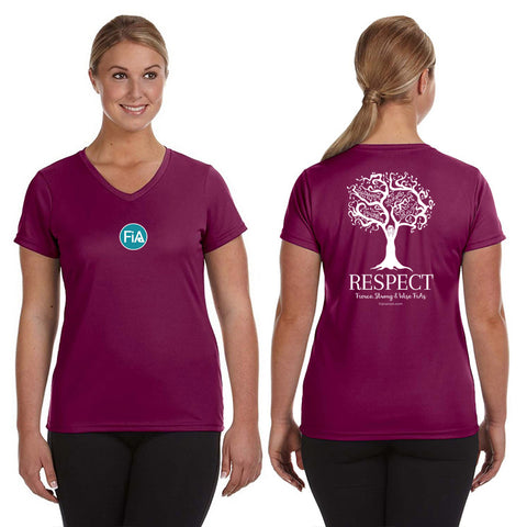 FiA Respect Augusta Ladies Wicking T-Shirt Pre-Order