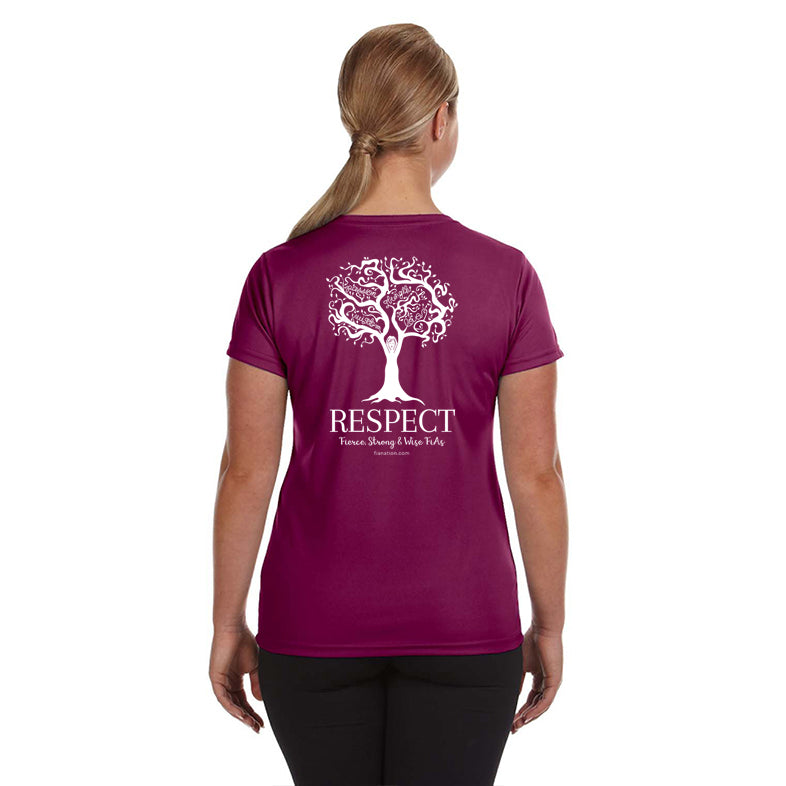 FiA Respect Augusta Ladies 100% Poly Wicking Shirt Pre-Order