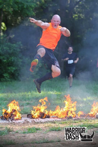 Jumping Fire in the World's Best Mud Run Socks