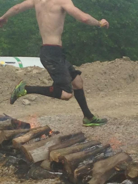The fire jump can't stop the best mud run socks.