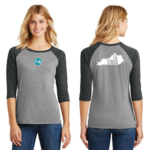 FiA Strong - Kentucky District Women's Perfect Tri 3/4-Sleeve Raglan Pre-Order