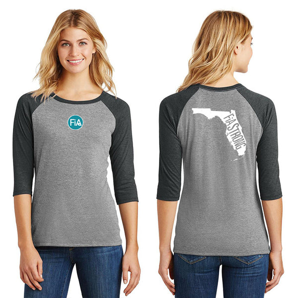 FiA Strong - Florida District Women's Perfect Tri 3/4-Sleeve Raglan Pre-Order