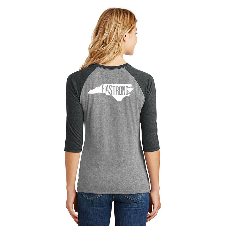 FiA Strong - NC District Women's Perfect Tri 3/4-Sleeve Raglan Pre-Order