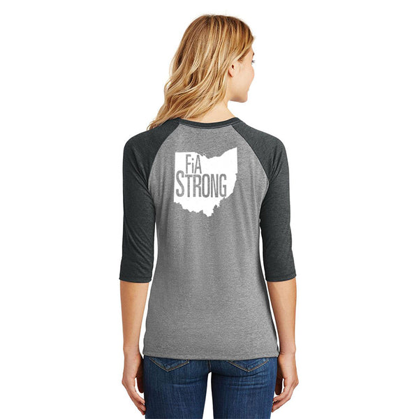 FiA Strong - OH District Women's Perfect Tri 3/4-Sleeve Raglan Pre-Order