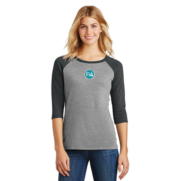 FiA Strong - SC District Women's Perfect Tri 3/4-Sleeve Raglan Pre-Order